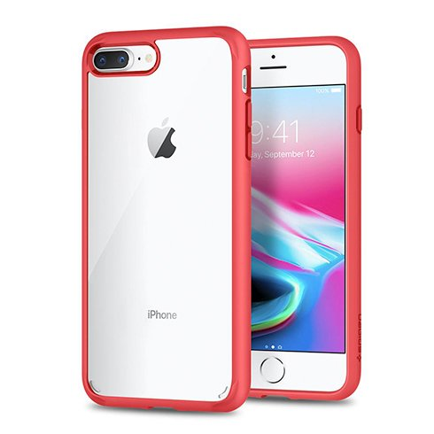 Spigen kryt Ultra Hybrid 2 pre iPhone 7 Plus/8 Plus - Red