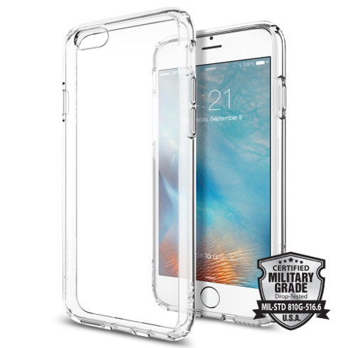 Spigen kryt Ultra Hybrid pre iPhone 6/6s - Crystal Clear