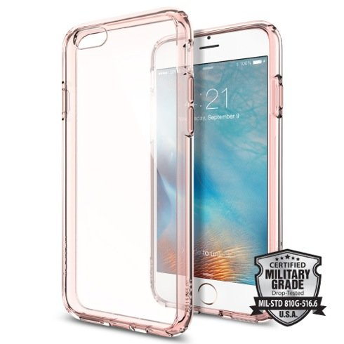 Spigen kryt Ultra Hybrid pre iPhone 6/6s - Rose Crystal
