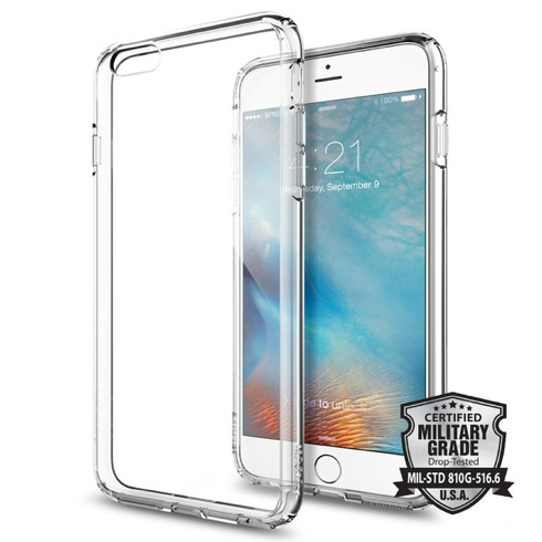Spigen kryt Ultra Hybrid pre iPhone 6s Plus - Crystal Clear