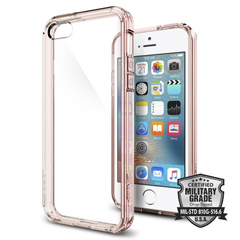 Spigen kryt Ultra Hybrid pre iPhone SE - Rose Crystal