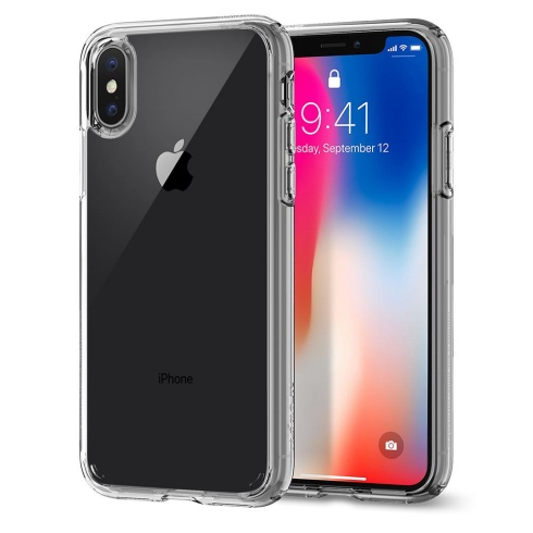 Spigen kryt Ultra Hybrid pre iPhone X/XS - Crystal Clear