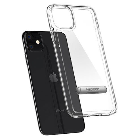 Spigen kryt Ultra Hybrid S pre iPhone 11 - Crystal Clear