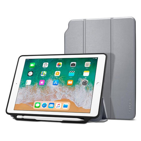 "Spigen puzdro Smart Fold 2 Case pre iPad 9.7"" 2017/2018 – Space Gray"