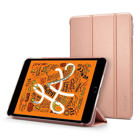 Spigen puzdro Smart Fold Case pre iPad mini 5 gen. (2019) – Rose Gold