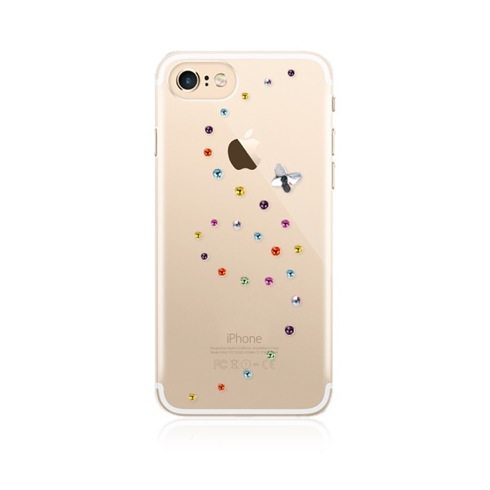 Swarovski kryt Papillon pre iPhone 7 - Cotton Candy