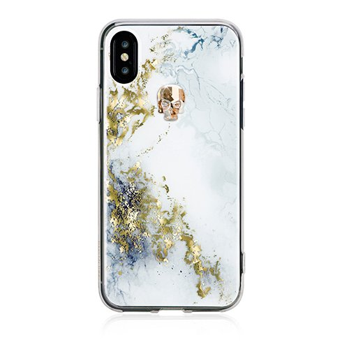 Swarovski kryt Treasure pre iPhone X/XS - Alabaster/Gold Skull