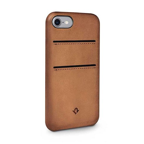TwelveSouth kryt Relaxed Leather with pockets pre iPhone 7/8 - Cognac