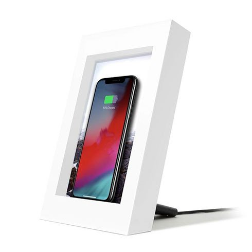 TwelveSouth PowerPic Wireless Charging Picture Frame - White