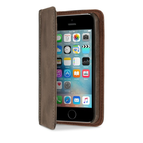 TwelveSouth puzdro BookBook pre iPhone SE - Vintage Brown