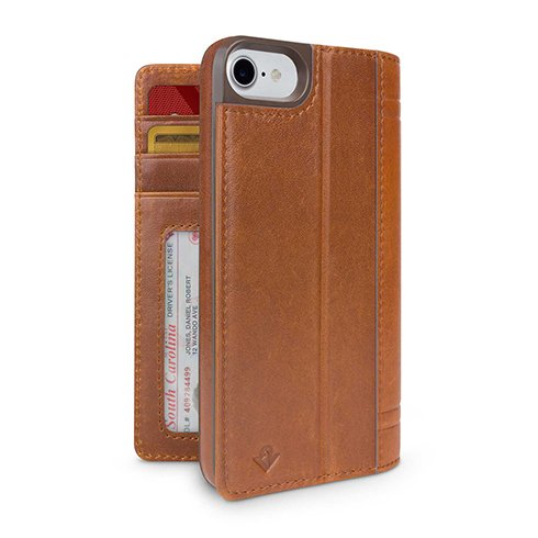 TwelveSouth puzdro Journal pre iPhone 7/8/SE 2020 - Cognac
