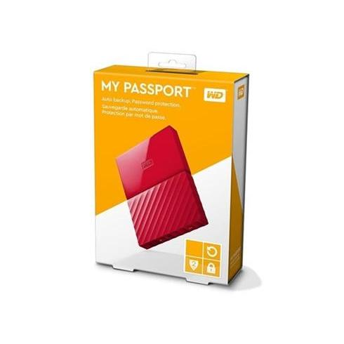 "WD 3TB My Passport Black Bird, 2,5"", USB 3.0, Externý cerveny"