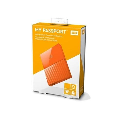 "WD 3TB My Passport Black Bird, 2,5"", USB 3.0, Externý oranzovy"