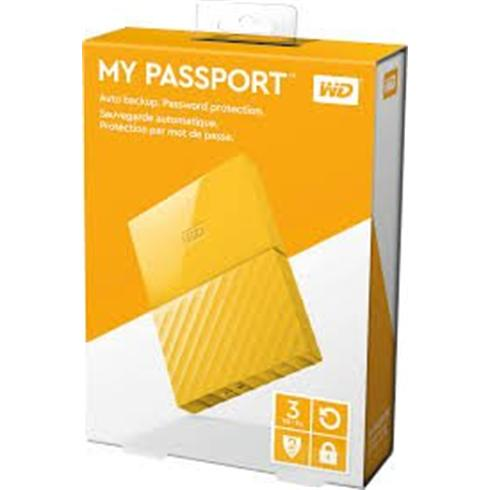 "WD 3TB My Passport Black Bird, 2,5"", USB 3.0, Externý žltý"